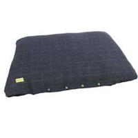 Beds, Baskets, Covers  - Earthbound Tweed Flat Cushion Medium 95x65cm