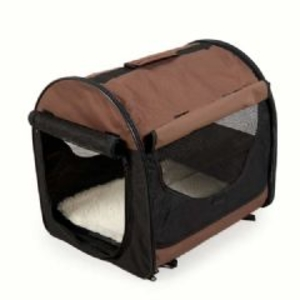 Kennels & Dog Flaps  - Easy Folding Pet Crate Small  L61 x W46 x H51cm - Coffee