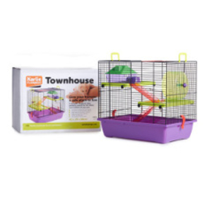 Pets & Domestic Animals  - Karlie Flamingo Townhouse Hamster Cage