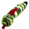 Kyjen Xmas Invincibles 6 Squeak Snake Dog Toy with Santa Hat - Green