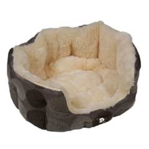 YAP Zacht Supersoft Oval Dog Bed - 56 x 49cm