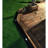 1m EasyEdge Artificial Grass Lighting Edging - Black - H5cm