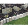 1m Silver Birch Log Lawn Edging - H7.5cm