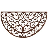 Other Garden Equipment & Decoration  - Fallen Fruits Cast Iron Half Round Doormat