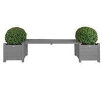 Garden Benches  - Fallen Fruits FSC Pine Bench with Planters
