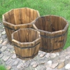 FSC Fir Octagonal Planters Set of 3