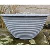 Greenfingers Striation Bowl Planter - Aged Black