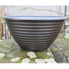 Greenfingers Striation Bowl Planter - Black and Copper