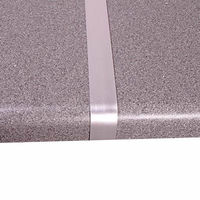 Bathroom Fittings & Products  - Aluminium Worktop Straight Joint Section - Worktop Straight Joint  Matt Silver 627mm   30mm Joining Strips