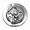 Cabinet Turn Button Catch - Round Butterfly Catch Sold Singly 38mm - Polished Chrome