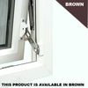 Screws, Nuts & Bolts Surface Mounted Window Restrictor - Locking - Surface Mounted Window Restrictor Right Hand - Brown