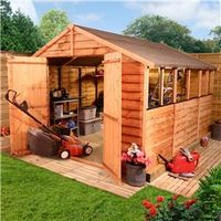 Sheds  - 10 x 8 - BillyOh 20 Rustic Economy Overlap Apex Shed