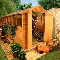 Sheds  - 10 x 8 - BillyOh 400 Lincoln Overlap Double Door Apex Garden Shed