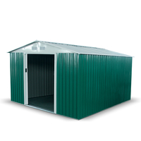 Sheds  - 10x11 Apex Dark Green - BillyOh Boxer Metal Garden Shed