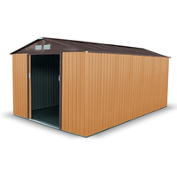 Sheds  - 10x11 Apex Light Brown - BillyOh Boxer Metal Garden Shed
