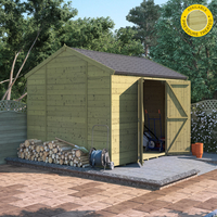 Garden Furniture  - 10x8 Pressure Treated T&G Shed - BillyOh Expert Reverse Workshop Windowless