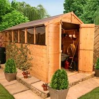 Sheds  - 12 x 8 - BillyOh 4000 Lincoln Tongue & Groove Double Door Apex Garden Shed