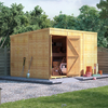 12x8 Expert Pent Shed T&G Shed - Windowless - BillyOh
