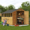 12x8 Keeper Overlap Apex Wooden Shed - Windowed BillyOh