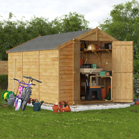12x8 Keeper Overlap Apex Wooden Shed - Windowless BillyOh
