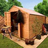 Sheds  - 16 x 8 - BillyOh 4000 Windowless Lincoln Workshop Tongue & Groove Double Door Apex