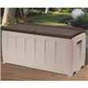 4 x 2 Brown - Keter Plastic Garden Storage Box with Seat - 340 Litre Capacity