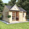 4.0m x 4.0m BillyOh Clubhouse Home Office Log Cabin - 44