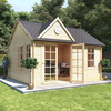 4.5m x 4.0m BillyOh Clubhouse Home Office Log Cabin - 44