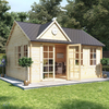 5.0m x 4.0m BillyOh Clubhouse Home Office Log Cabin - 44