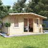 5.0m x 4.0m BillyOh Winchester Log Cabin - 28, 44mm