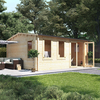 5.0m x 4.5m BillyOh Devon Log Cabin - 70