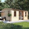 5.0m x 4.5m BillyOh Dorset Log Cabin - 70