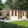 5.5m x 4.5m BillyOh Dorset Log Cabin - 70