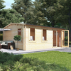 5.5m x 4.5m BillyOh Devon Log Cabin - 70