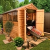 7 x 5 - BillyOh Lincoln 400 Overlap Double Door Apex Garden Shed