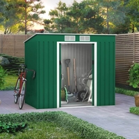 Garden Furniture  - 7x4 BillyOh Cargo Pent Metal Shed Including Foundation Kit - Green