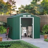 Sheds  - 7x6 BillyOh Ranger Apex Metal Shed With Foundation Kit - Dark Green