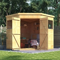Garden Furniture  - 7x7 T&G Shed - BillyOh Expert Corner Workshop Windowed