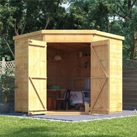 Garden Furniture  - 7x7 T&G Shed - BillyOh Expert Corner Workshop Windowless
