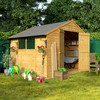 8 x 10 BillyOh 30 Windowed Economy Overlap Apex Garden Shed