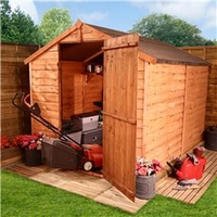 Sheds  - 8 x 6 - BillyOh 20 Windowless Rustic Economy Overlap Apex Shed