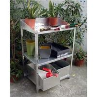 Garden Houses & Buildings  - Aluminium Workstation with Drawers