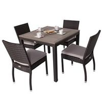 Garden Furniture  - Andreas 4 Seater Square Rattan