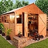 BillyOh 10 x 10 Greenkeeper Premium Tongue & Groove Double Door Workshop Garden Shed