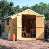 BillyOh 10x8 Master Tongue and Groove Apex Windowed Double Door Shed including Floor,  Roof,  Felt - 10x8 Windowed