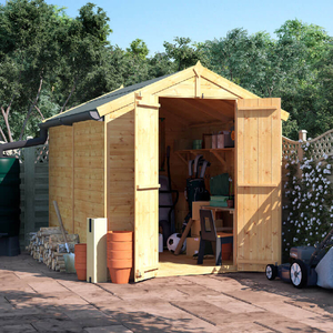 BillyOh 8x6 Master Tongue and Groove Apex Windowless Double Door Shed including Floor,  Roof,  Felt - 8 x 6 Windowless