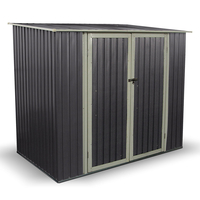 Sheds  - BillyOh Combo 7 x 5 Warm Grey Pent Metal Shed
