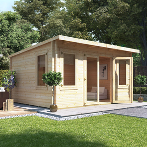 BillyOh Eliana Pent Log Cabin - W5.5m x D4.0m - 44mm