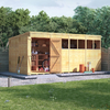 BillyOh Expert Tongue and Groove Pent Workshop - 14x8 T&G Pent Windowless