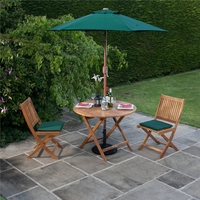 BillyOh Windsor 1.0m Round Dining Set - 2 or 4 Seat Set with Chairs - Folding Chair x 2